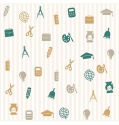 School seamless pattern 3 vector image