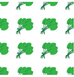 Seamless pattern made from flat green doodle vector