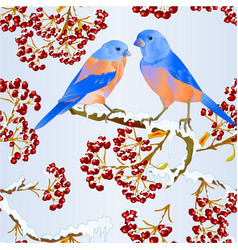 seamless texture birds bluebirds thrush small vector image