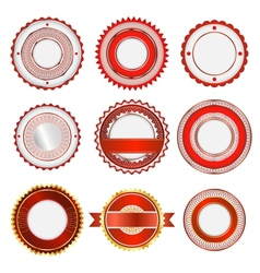 Set of badges labels and stickers in red vector image vector image