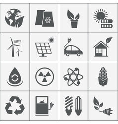 Set of eco energy icons vector