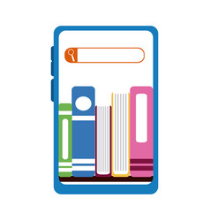 Smartphone ebooks web home education flat style vector