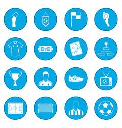 Soccer icon blue vector