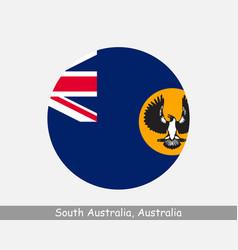 South australia australia round circle flag vector
