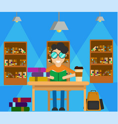 Study in library vector