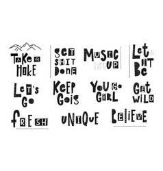 take hike get shit done unique quote lettering vector image