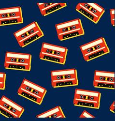 tape cassette music retro vintage seamless vector image