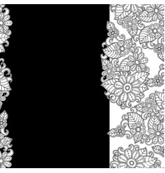 template with white flower vector image