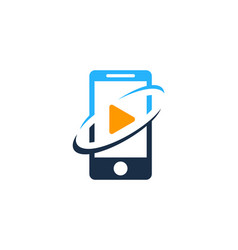 Video mobile logo icon design vector