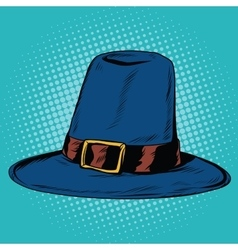 Vintage hat pilgrim vector image