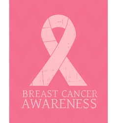 Vintage style Breast Cancer Awareness poster vector image vector image