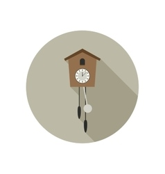 Wall clock icon vector