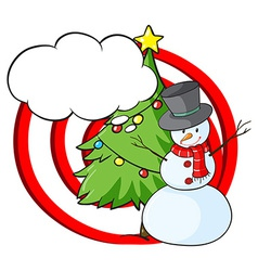A snowman with an empty callout vector image vector image