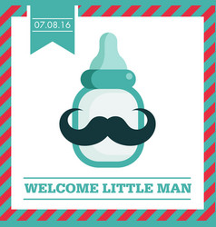 baby shower greeting card vector image vector image