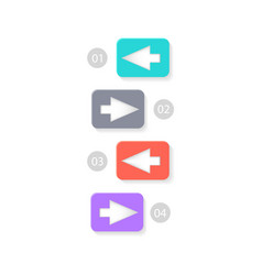 colorful arrowed list icon vector image