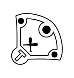 diamond camp baseball icon vector image vector image