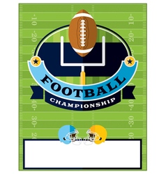Football Championship Flyer Template vector image vector image