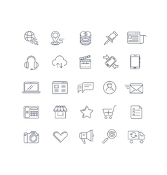 Internet marketing line icons set vector image vector image