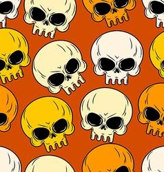 Skull seamless pattern Texture of head skeleton vector image