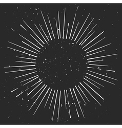 Vintage hand drawn eclipse with rays starburst vector image