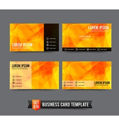 Business Card template set 019 Yellow and Orange vector image vector image