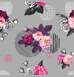 elegant seamless pattern with semi-colored wild vector image vector image