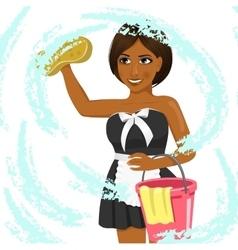female african american housekeeping worker vector image