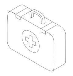 First aid kit icon isometric 3d style vector image