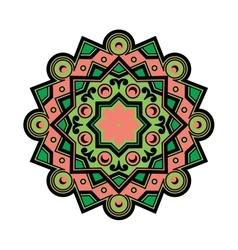 Beautiful Deco Colored Mandala Patterned vector image vector image