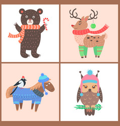 collection of funny posters vector image