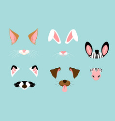 cute and nice animal ears vector image vector image