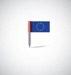 European union flag pin vector image vector image