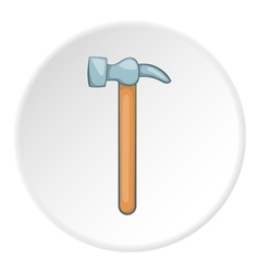 Hammer icon cartoon style vector image