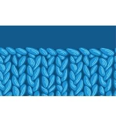 Knit sewater fabric horizontal seamless pattern vector image