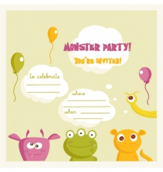 monster party vector image