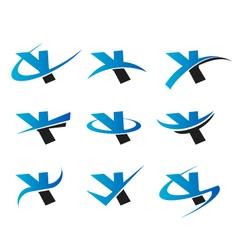 Alphabet Y Logo Icons vector image vector image