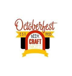 Oktoberfest Logo Design Template vector image vector image