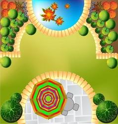 Plan of garden vector image vector image