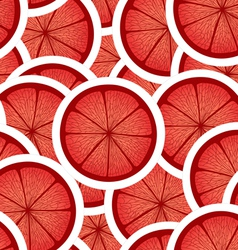 Red citrus seamless background vector image vector image