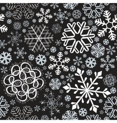 snowflake christmas seamless vector image vector image
