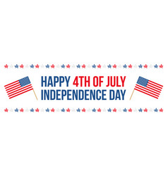 4th of july independence day horizontal card vector