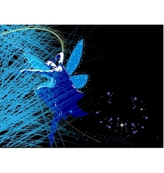 Abstract background with fairy fairy vector image
