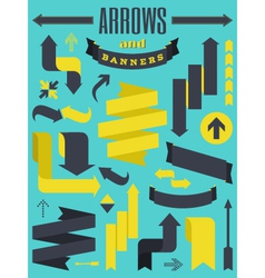 Arrows and banners vector