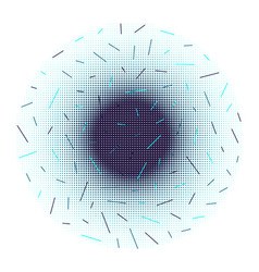 background halftone dots and lines vector image