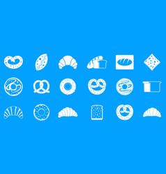bakery icon blue set vector image
