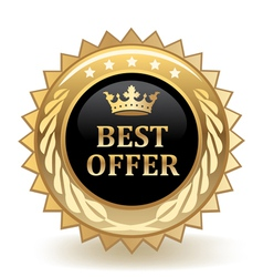 Best Offer Badge vector