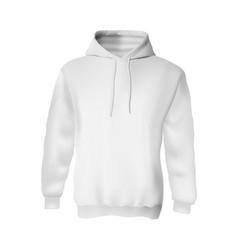 Blank white sweatshirt hoodie mockup for branding vector