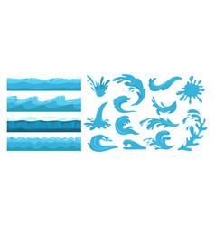 blue ocean waves sea wave water surface seamless vector image