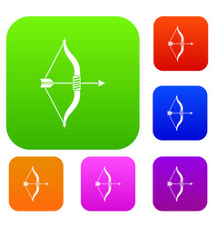 bow and arrow set collection vector image