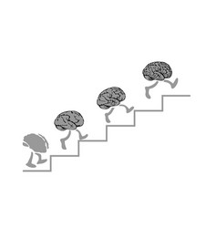 brains run are climbing the stairs the smartest - vector image vector image